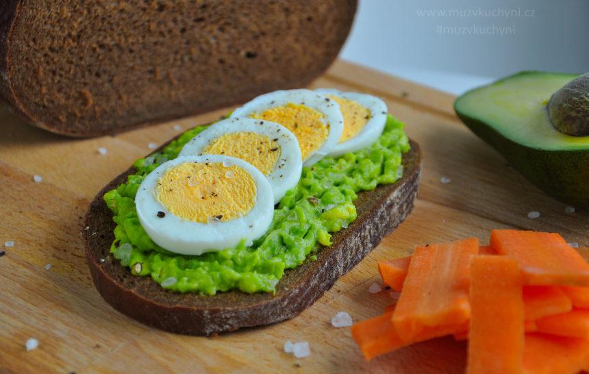recept s avokádem, vejce, vajíčko, snídaně, fitness recept, fitrecet, recepty na hubnutí