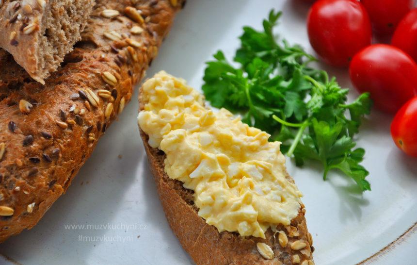 vajíčková pomazánka, recept, snídaně, jednoduchý, jednoduchá, chutný, chutná, fitrecept, fitness recept