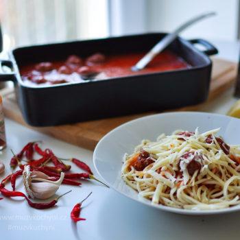 večeře. recept, špagety, fitness recept, fitrecept, masové kuličky, hovězí maso, rajčatová omáčka, jednoduchá, rychlá, zdravá