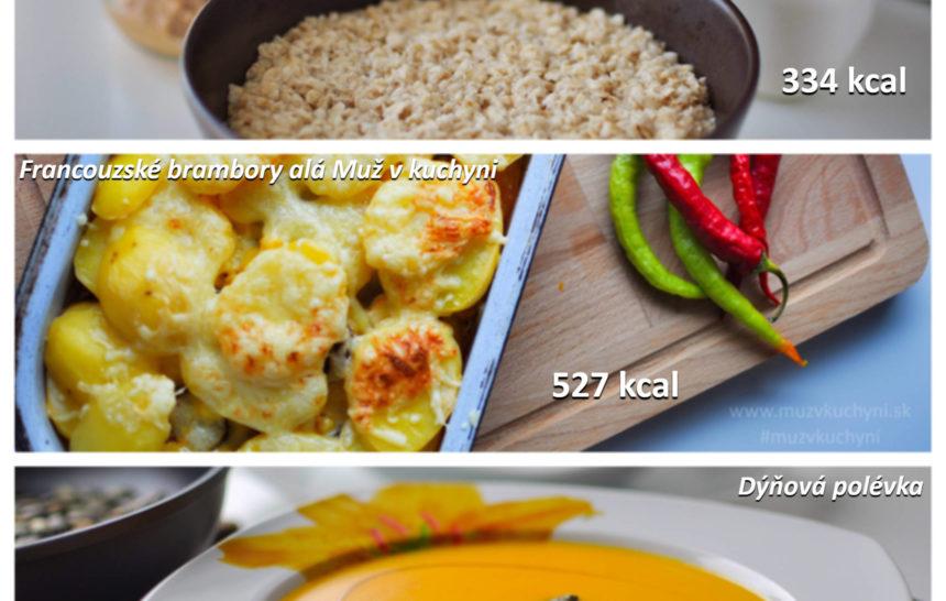jídelníček, muž v kuchyni, fitrecept, firecepty, fitness recepty, recept, snídaně, obědy, večeře, ovsené vločky, francouzské brambory, dýňová polévka