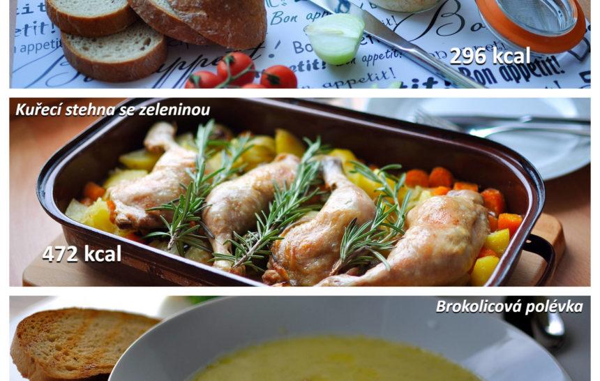 jídelníčky, fitrecepty, fitness recepty, snídaně, oběd, večeře, brokolicová polévka, kuřecí stehna se zeleninou, brynzová pomazánka