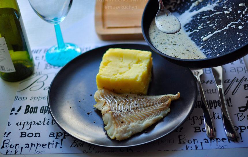 treska, ryba, recept, obed, fitrecept, fitness recept, česnek, smetana, rozmarýn, tymian, provensálská směs koření, co k obědu, jak připravit tresku
