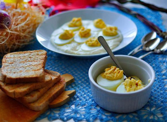 Velikonoce, velikonoční recept, vajíčka, plněná vajíčka, slavnostní recept
