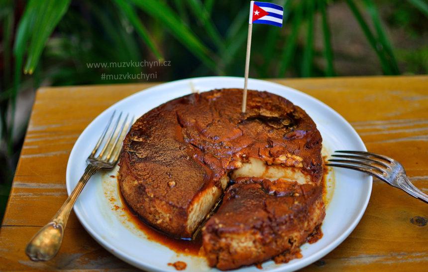 Flan, recept, dezert, vegetarian, něco pod zub, kubánský,