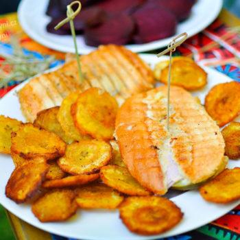 plantain, recept, plantejn, kubánsky, sendvič
