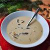 vánoční, houbová, krémová, polévka, oběd, jednoduchá, recept