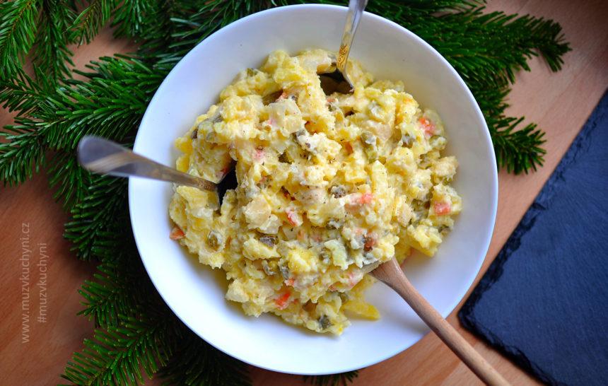 bramborový, salát, recept, majonézový, tradiční, chutný