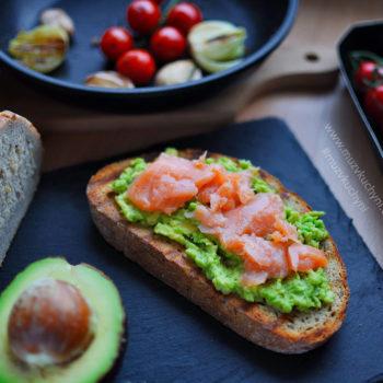 toast, avokádo, losos, recept, snídaně, zdravý, zdravá