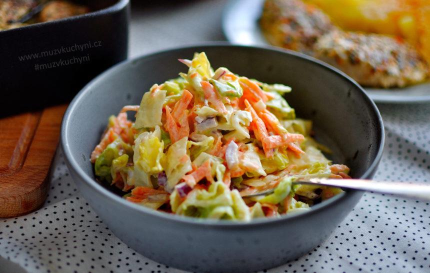 coleslaw, recept, salát, k masu, jednoduchý