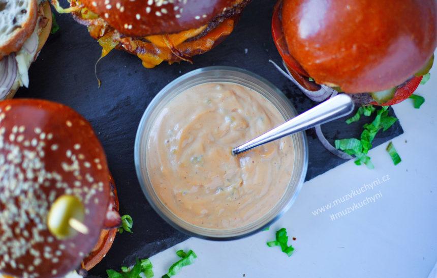 domácí, omáčka, hamburgery, burger sauce, recept