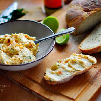 pomazánka, uzený losos, recept, snídaně