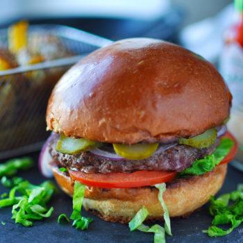 domácí, hamburger, recept, klasický