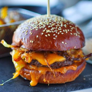 cheeseburger, domácí, recept, hamburger, cheat day