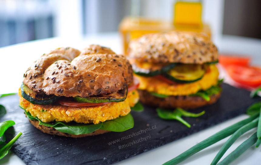 vegan burger, vegatarian, hamburger, recept, čočka, cirzna