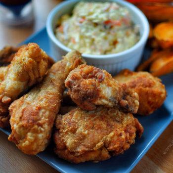 domácí, KFC, recept, batáty, coleslaw