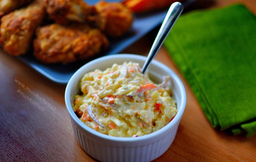 celerový, salát, recept, příloha, coleslaw