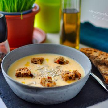celerový krém, zeleninová polévka, večeře, recept