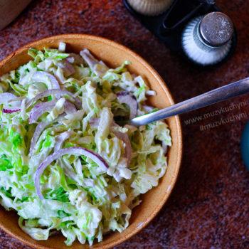Svěží zelný salát